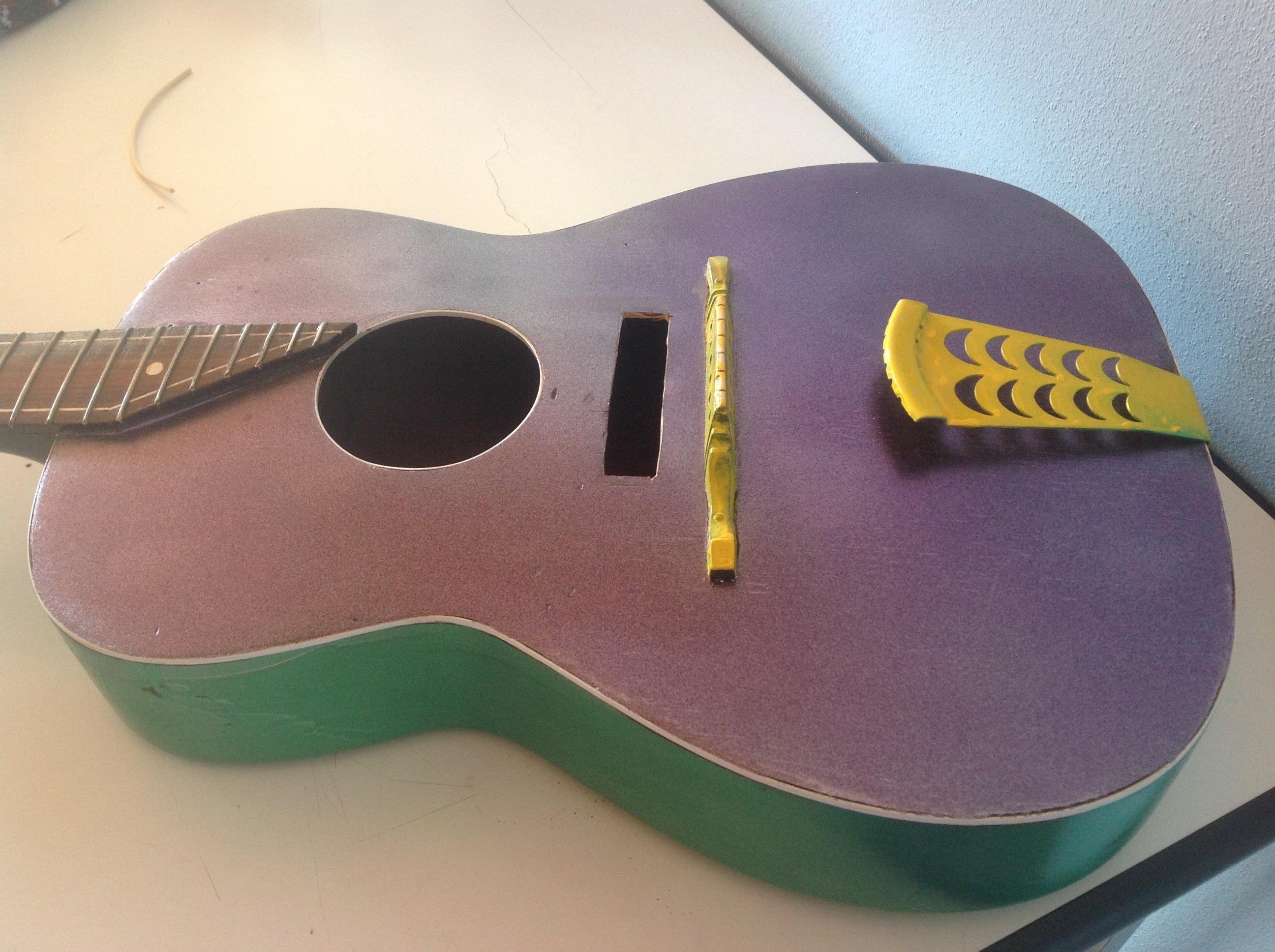 costruzione chitarra a ruota